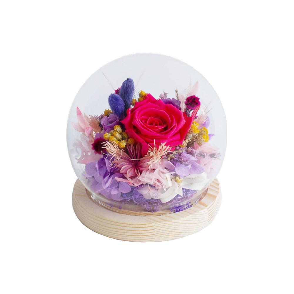 水晶球鐘罩-玫桃